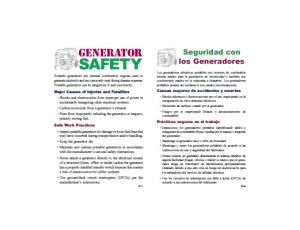 Seguridad con los Generadores
